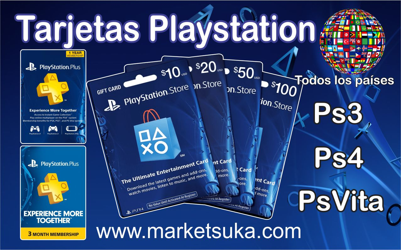 Tarjetas Playstation market suka