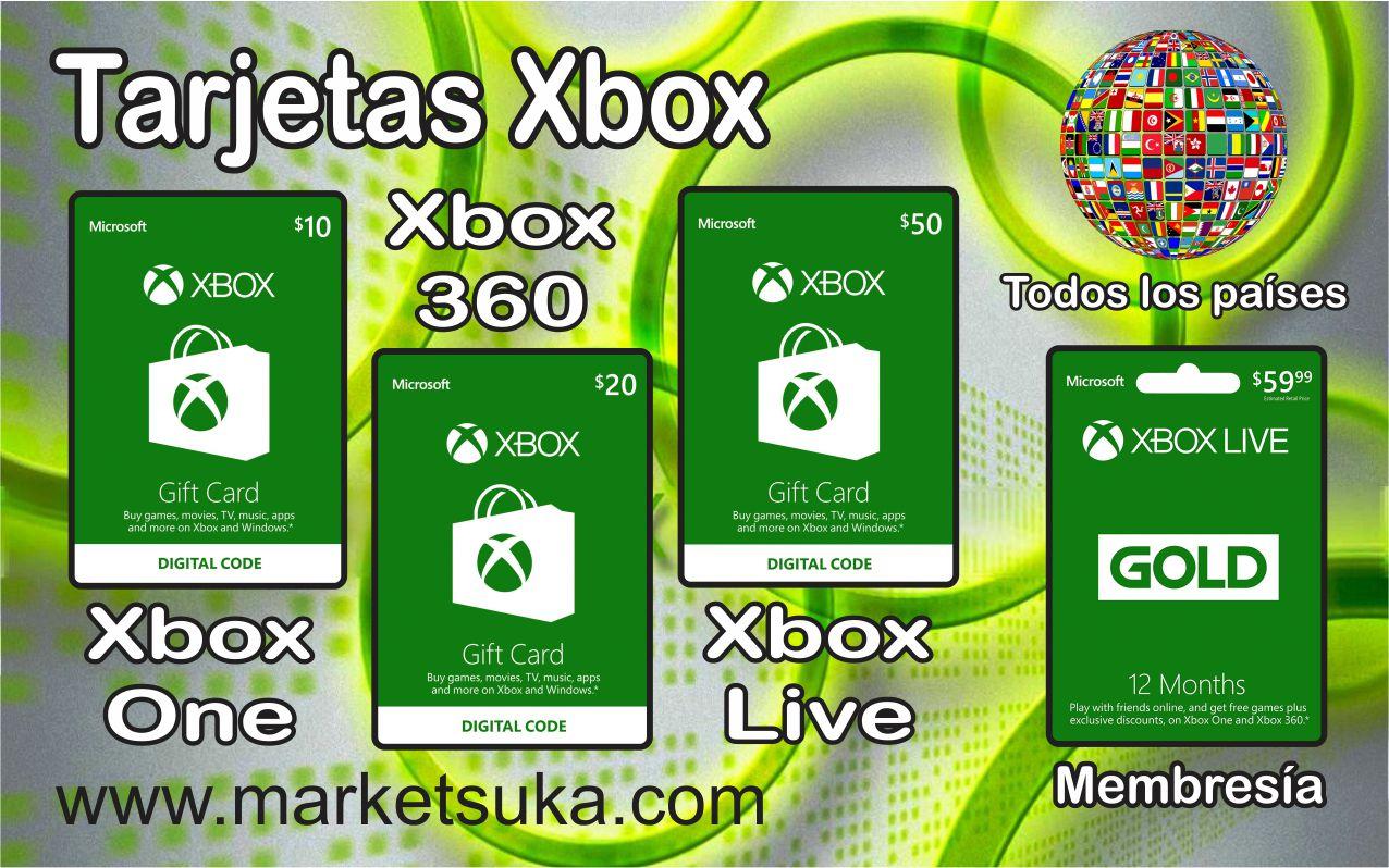 Tarjetas Xbox market suka