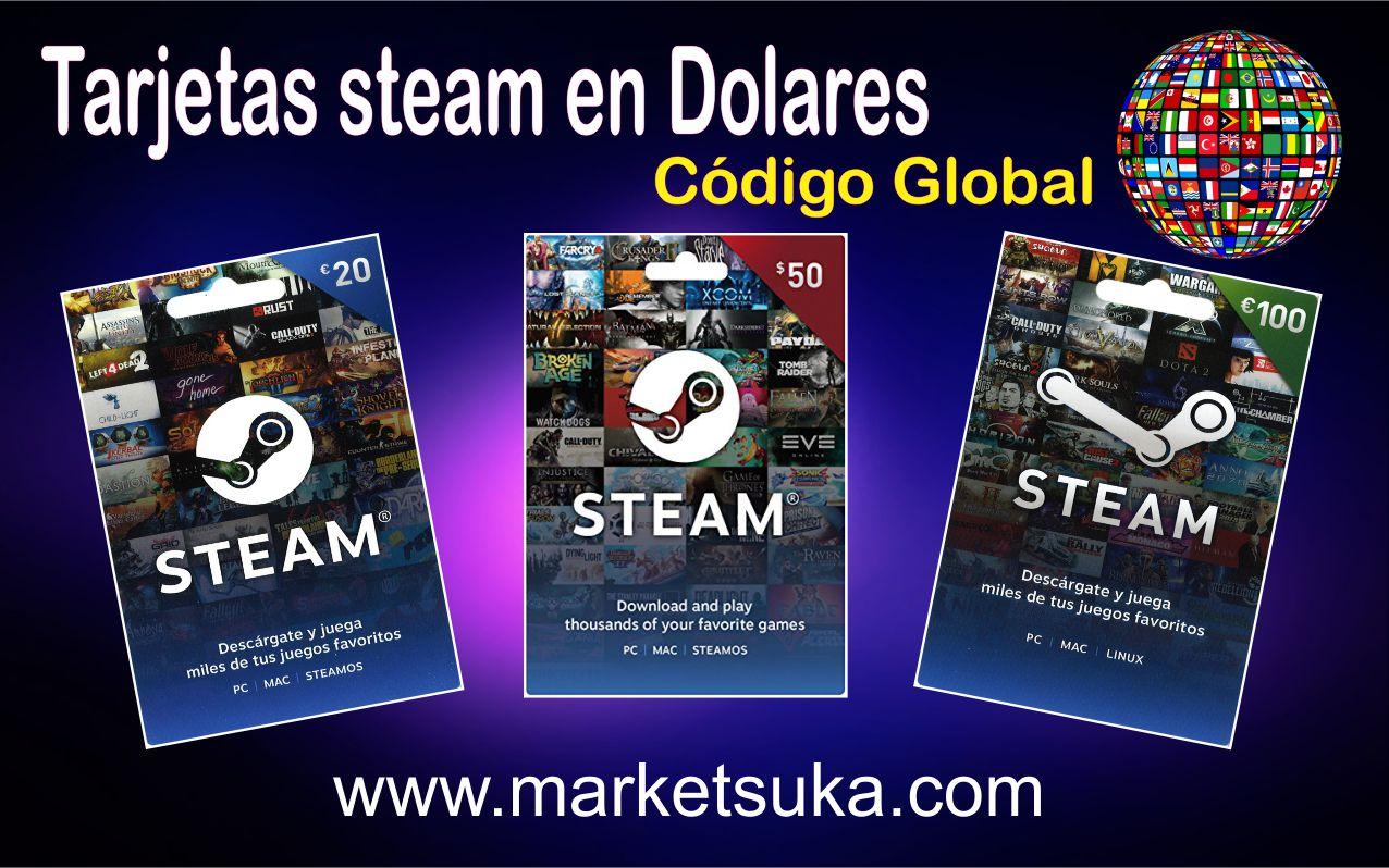 Tarjetas steam en dolares market suka