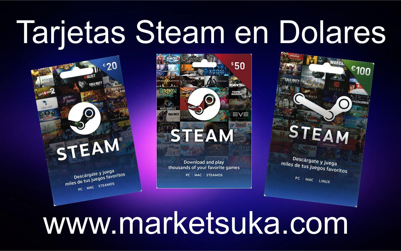 tarjetas steam
